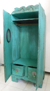 miniature armoire made from cardboard boxes