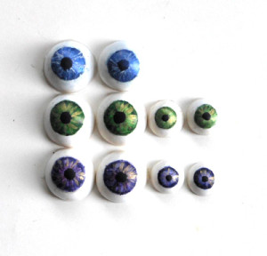 how to make polymer clay eyes for dolls