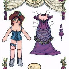 Belle, a dancehall girl paper doll